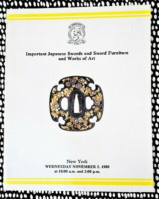 JAPANESE SWORDS & SWORD FURNITURE Fully Illustrated Large Auction Catalog 1980