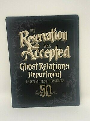 My Reservation Accepted Magnet Ghost Relations Haunted Mansion 50th Passholder