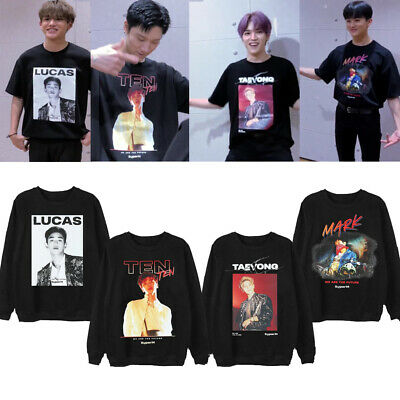 Kpop SuperM 1st Album Unisex Hoodie Sweatshirt Photo Printed We Are The Future
