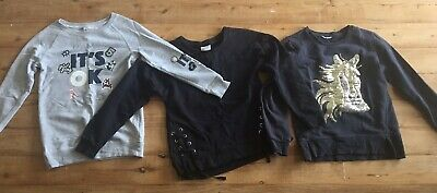 3x Girls Jumpers Size 8