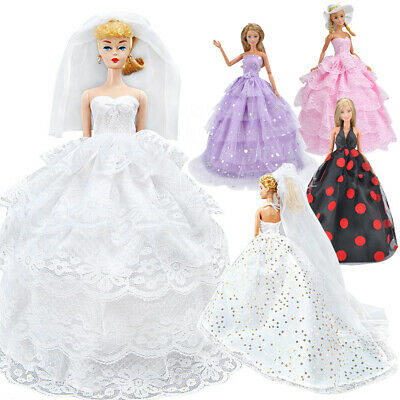 Fashion Doll Clothes Ballet Tutu Dress For Barbie Doll Outfits Evening Dresses