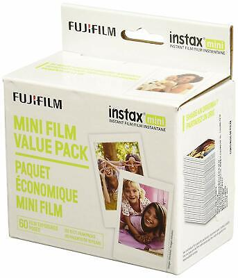 Fujifilm Instax Mini Instant Film Value Pack 60 Total Pictures)Package may vary