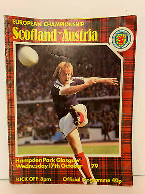 Scotland v Austria European Championship 1980 Qualifier October 1979 Programme