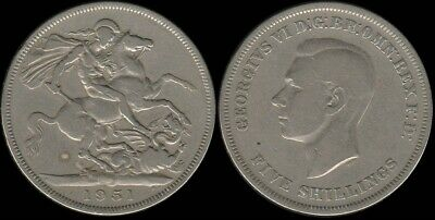 Great Britain: 1951 Festival of Britain One Crown King George VI Five Shillings