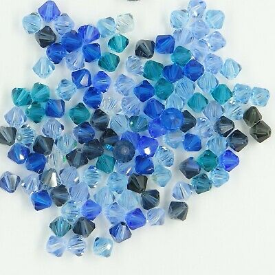 T6 MIX B ** Lot de 50 toupies cristal Swarovski 6 mm MIX camaïeu couleurs