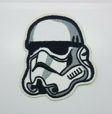 Star Wars Stormtrooper Helmet Die cut patch 3 1/4 inches tall patch
