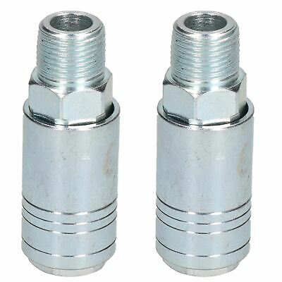 "Female Coupler 3/8"" BSP Male Thread One Touch Quick Release Air Fitting x 2"