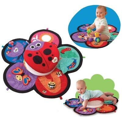 Lamaze Spin & Explore Garden Gym Baby Play Mat Infant Activity Tummy Time Toy