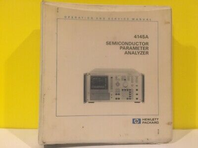 HP 04145-90000 4145A Semiconductor Parameter Analyzer Operation + Service Manual
