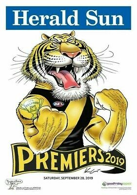2019 Afl Premiers Grand Final Richmond Tigers Weg Mark Knight Premiership Poster