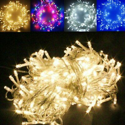 20-500 LED String Fairy Lights Battery/Solar/UK Plug Xmas Party Outdoor Indoor