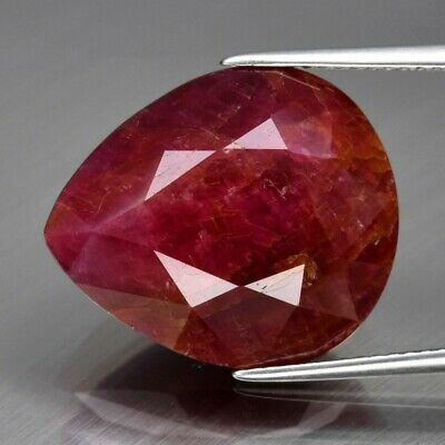Big! 23.81ct 18.8x16mm Pear Natural Unheated Untreated Red Ruby