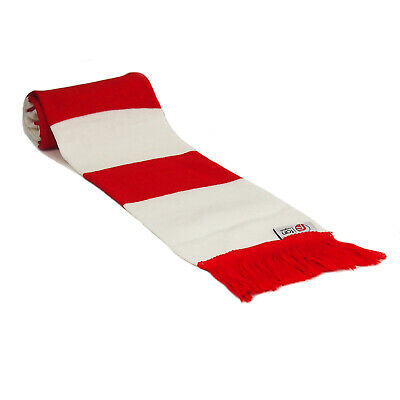 fan originals Retro Football Bar Scarf in Arsenal Colours Red White