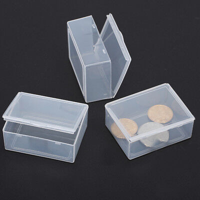 5x Clear Transparent Plastic Storage Box Collection Container Case Part BoxYPTH