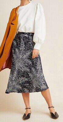 Anthropologie Bias Satin Skirt   by Hutch $118 NWT