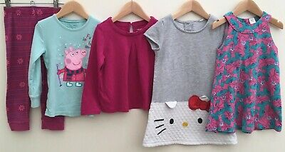 Girls Bundle 2-3 Hello Kitty Mini Club Peppa Pig <D8211