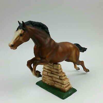Vintage Breyer Molding Co U.S.A, Jumping Horse With  Wall, Traditional