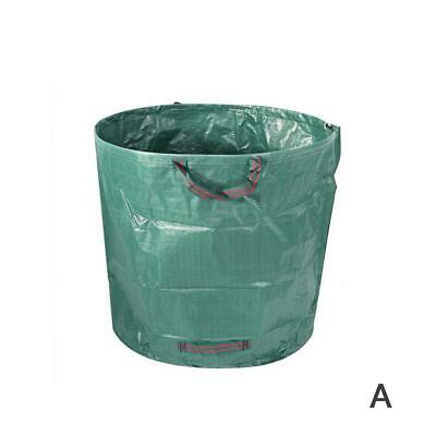 80/132 Gallon Garden Leaves Basket Reinforced Weave Trash Bags Garbage Rubb L9T9
