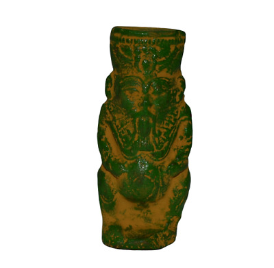 ANCIENT EGYPT ANTIQUE EGYPTIAN faience BES  Statue