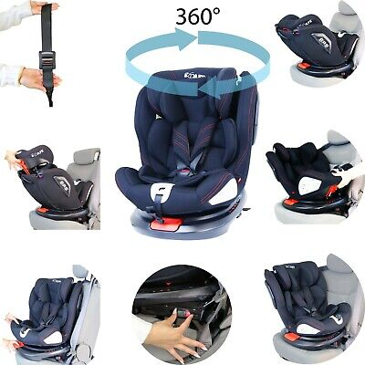 All Stages 360° Rotating Baby Car Seat Carseat Group 0+ 1 2 3 (CS 008) Every Sta