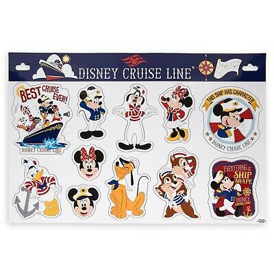 Disney Cruise Line Captain Mickey Stateroom Door Large Magnets Set, NEW
