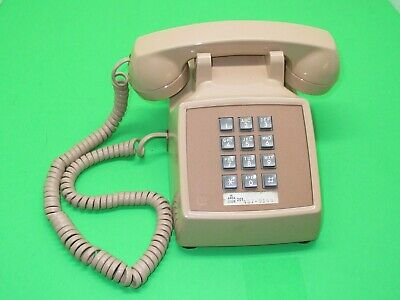 Western Electric Bell System #2500  Beige Push Button Desk Telephone~Tested~