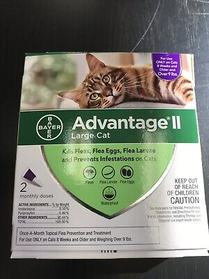 Bayer Advantage II for Large Cats Over 9 lbs - 2 Pack - NEW