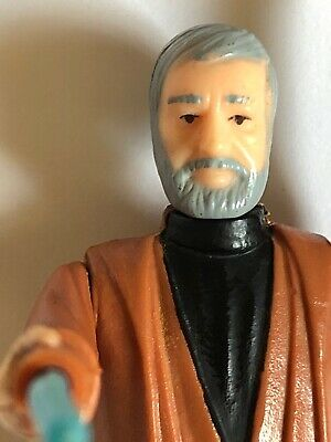 Vintage Original Kenner Star Wars Obi-Wan Ben Kenobi Gray Hair Blue LightSaber