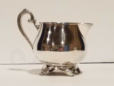 Oneida Silversmiths Silver Plated Creamer Pitcher, Footed