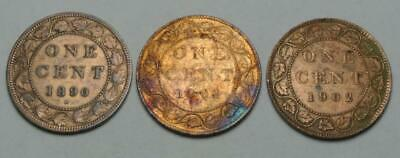 Canadian High Grade Cleaned Canada Cents 1890-H 1901 1902 - C8267