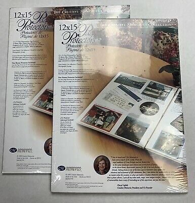 Creative Memories Page Protectors 12x15 New Packs Of 15 (Lot Of 2 Total 30) 1999