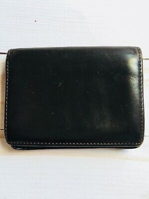Tiffany & Co  Black Leather Wallet Credit Card Holder id Authentic