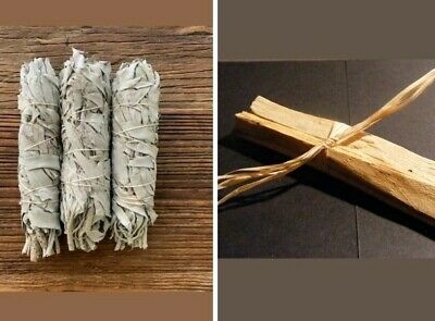 Smudge combo pack ...... 1 x HOLY WOOD INCENSE & 1 x SAGE SMUDGE STICK.