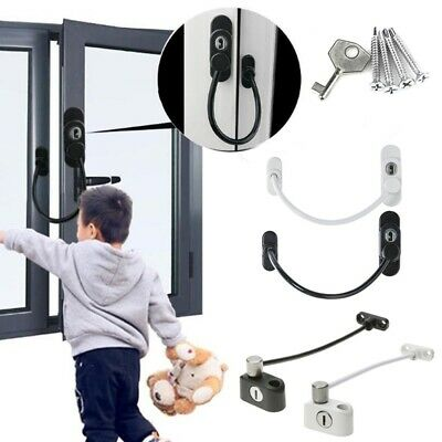 UK Zinc Alloy Window Door Guard Restrictor Lock Safety Chain Locks 33