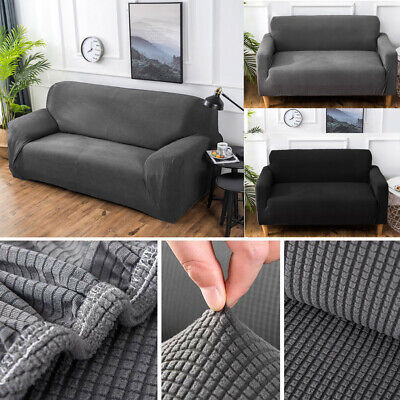 1/2/3 Seater Sofa Couch Slipcover Stretch Cover Elastic Fabric Settee Protector