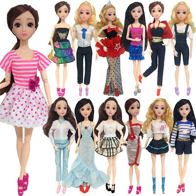 1/13Pcs Dresses for Barbie Doll Fashion Party Girl Dresses Clothes Gown