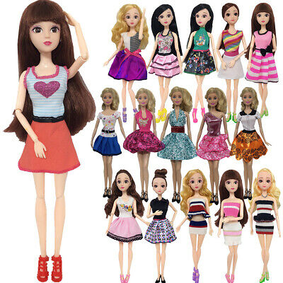 16 Type Dresses for Barbie Doll Fashion Party Girl Dresses Clothes Gown Kid Gift