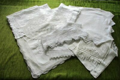 Antique Collection Of White Table Linen For Restoration/Crafts.