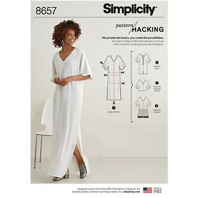 Simplicity Sewing Patterns 8657 Misses' Caftan With Options For Design Hacking