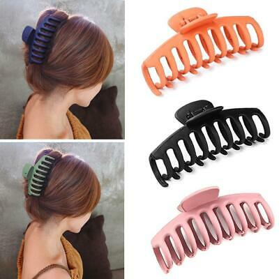 Women Ladies Large Hair Claw Clip Elegant Solid Color Clamp Hairpin
