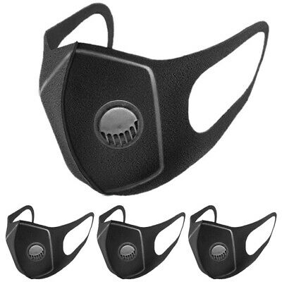 Unisex Mouth Face Anti Pollution Dust Protection Outdoor Breathable Black Mask