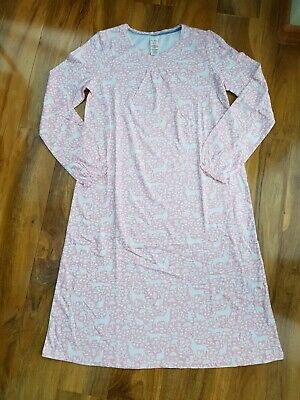 Mini Boden Girls Printed Nightie Pink/Ivory Forest Size 13-14 Years New  G0001