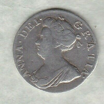 1706 Queen Anne Silver Maundy Fourpence In Good Fine Or Better Condition