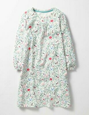Mini Boden Girls Printed Nightie Ivory Floral Size 13-14 Years Brand New G0001