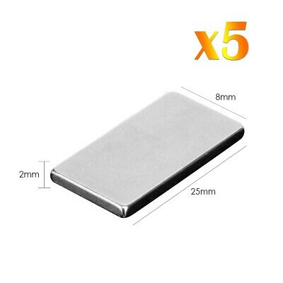 5 x Neodymium Rectangular Magnets Super Strong Rare Earth Block NdFeb N52 Grade