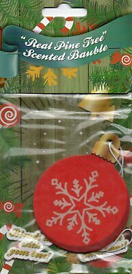 Car Air Freshener - Real Pine Tree - Christmas                  *New And Sealed*