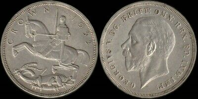 Great Britain: 1935 Crown King George V Five Shillings KGV 5/- silver