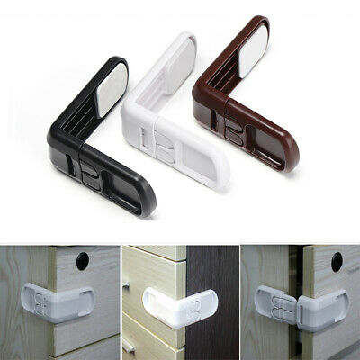 Double Snap Baby Safety Lock Right Angle Wardrobe Door Children Protector