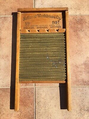 VINTAGE NATIONAL WASHBOARD CO. No. 801, BRASS KING, NICE