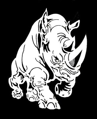 high detail airbrush stencil rhino FREE UK  POSTAGE
